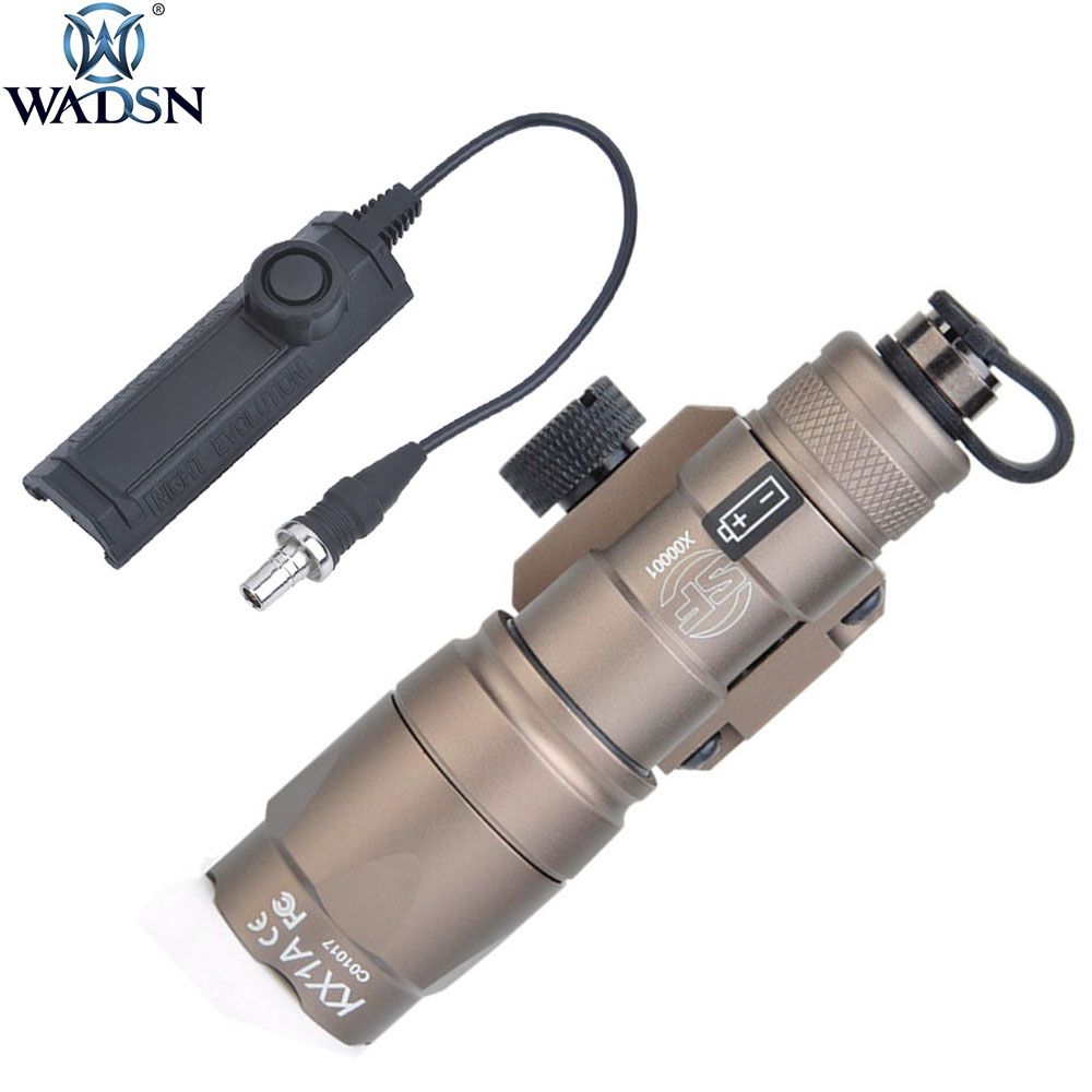 WADSN Airsoft Surefir M300 M300B Mini Scout Flashlight 280Lumens LED Tatical Hunting Weapon Light With Dual Function Tape Swtich