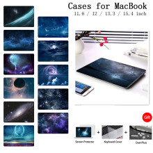 Nowy pokrowiec na laptopa do Apple MacBook Air Pro Retina 11 12 13 15 cali z pokrowcem na klawiaturę Touch Bar A2159 Shell Starry Sky(China)