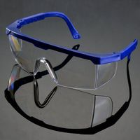 Clear Black Safety Goggles Protective Windproof Eyewear Glasses