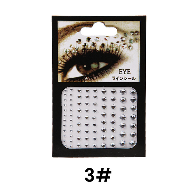 6 Colors Tattoo Sticker Glitter Diamond Makeup Eyeliner Eyeshadow Face Rhinestone Sticker Jewelry Eyes Makeup Crystal Stickers 4