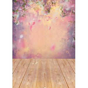 Image 2 - Flower Petals Gradient Oil Painting Photo Backdrop Vinyl Backgrounds for Photography Children Lovers New Born Baby Photoshoot