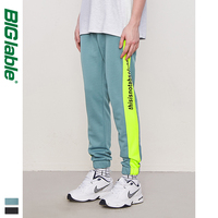 BIG LABLE New Fashion Men Sweatpants Autumn Side Stripe Contrast Color Mens Sweatpants Streetwear Mens Jogger Trousers 8838W