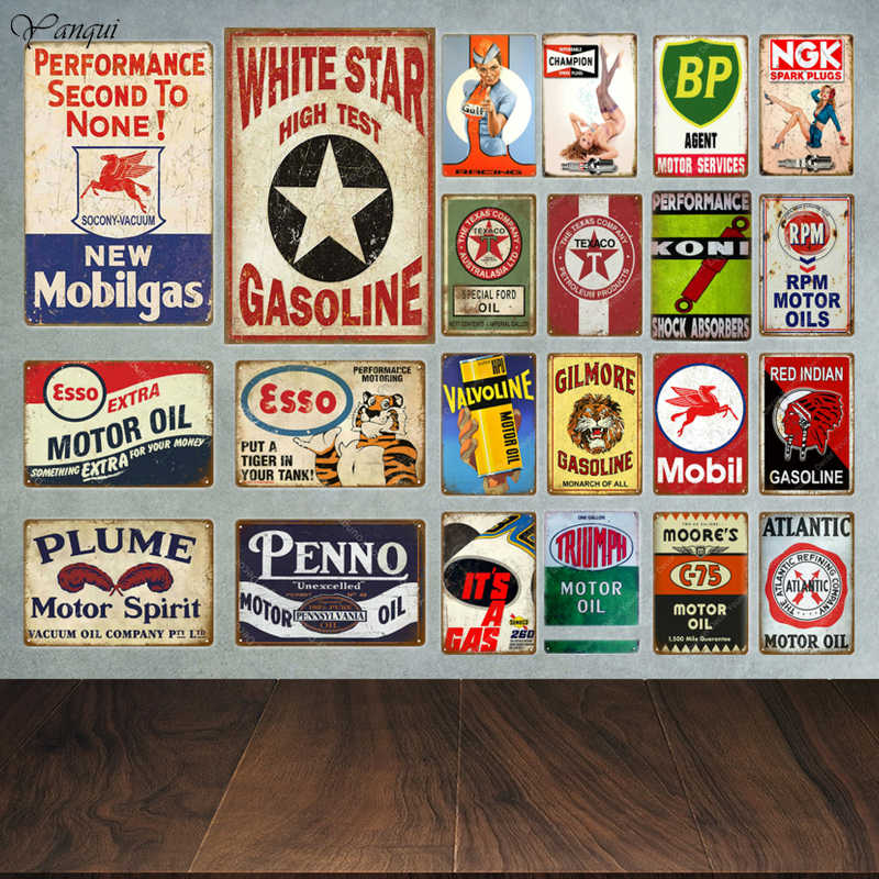 Texaco Motor Öl Plaque Zinn Zeichen Vintage Retro Garage Decor Bar Pub Gas Station Dekorative Platte Triumph Wand Poster YA026