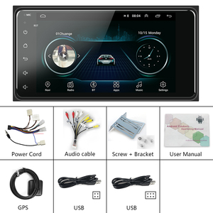 Image 5 - Podofo 2 din Android 8.1 Radio GPS Car Multimedia Player 2Din Universal for Toyota VIOS CROWN CAMRY HIACE PREVIA COROLLA RAV4