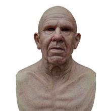Latex Mask Headgear Horror Cosplay Masquerade Scary Halloween Full-Head Old Man Party
