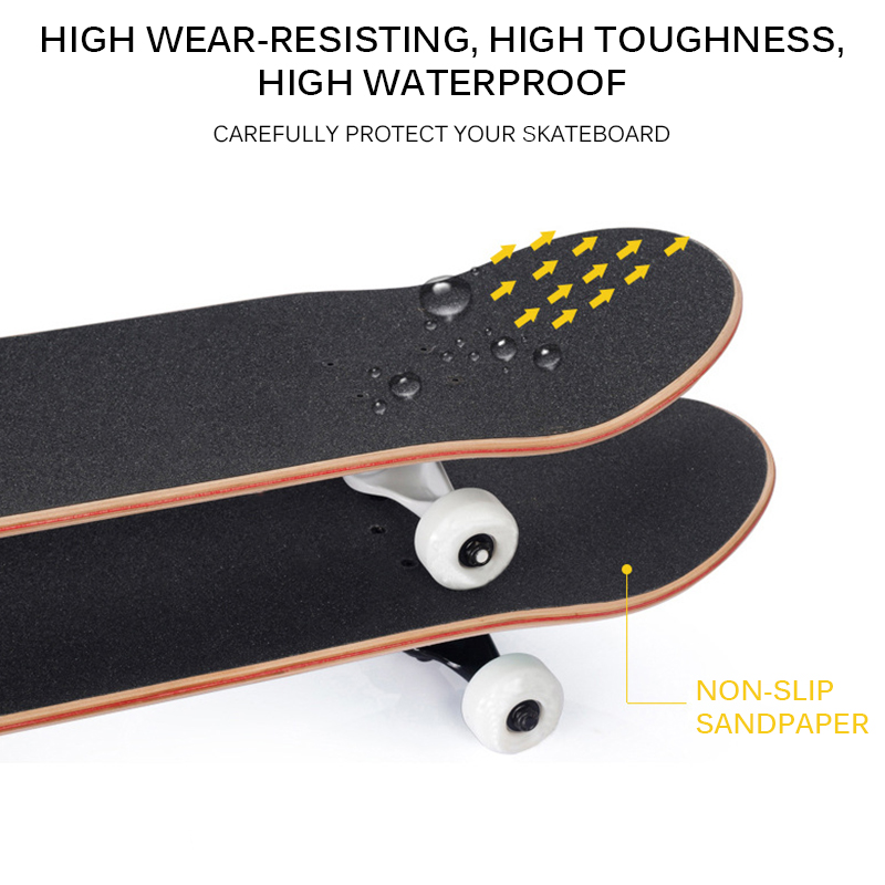 Outdoor Skateboard Sticker Black Deck Sandpaper For Skateboard Professional Skateboard Water-Resistant Skateboard Deck Sandpaper