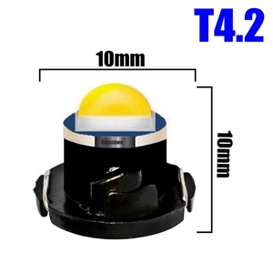 Image 3 - 100pcs T3 T4.2 T4.7 Cree Chip LED Bulb Car Dashboard Warning Indicator Light Instrument Cluster Lamp white red blue yellow green