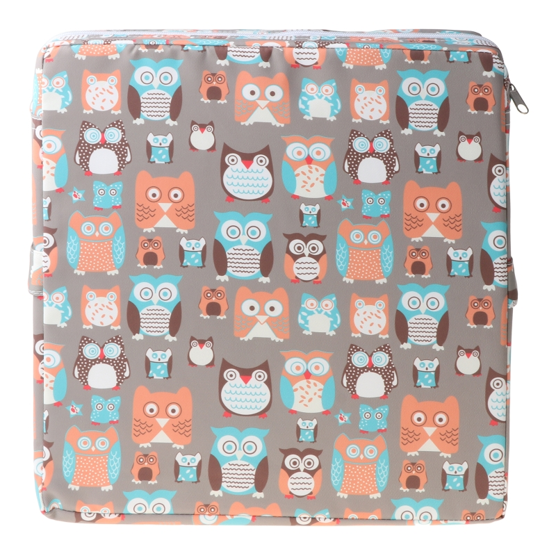 Square Booster Seat Dining Chair Washable Thick Increasing Cushion for Kids Baby