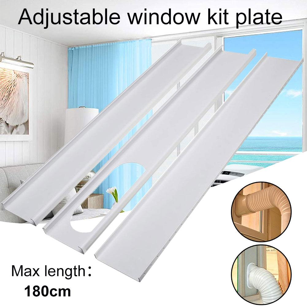 3Pcs 13cm/15cm Home Portable Air Conditioning Window Adaptor Exhaust Hose Window Slide Portable Plate Kit Adjustable Replacement
