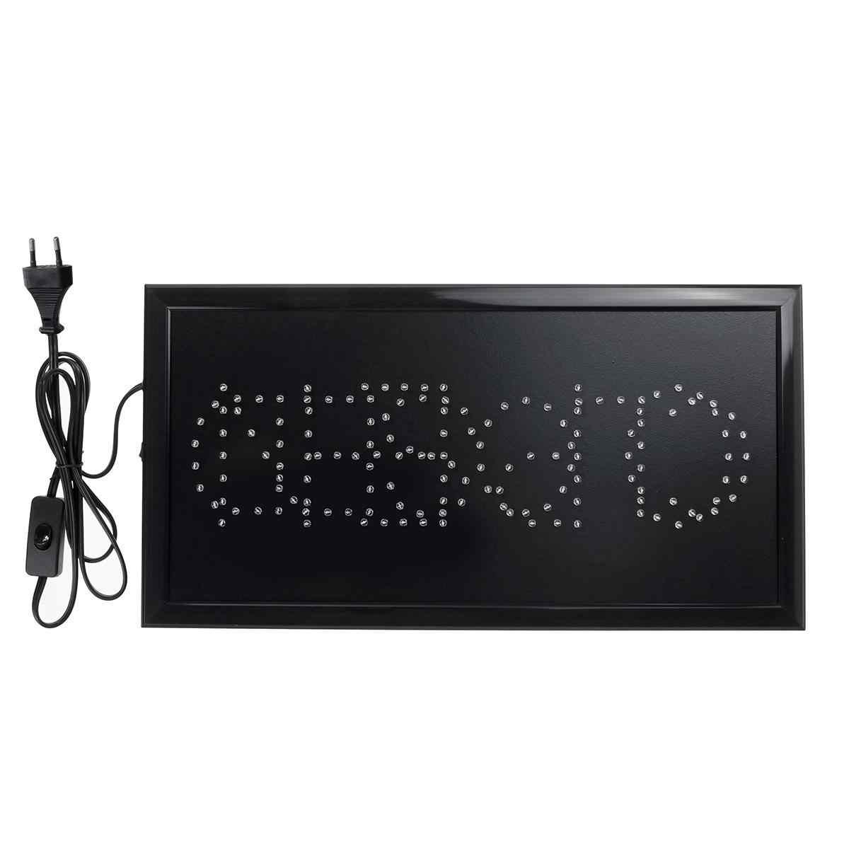 Geschlossen LED Neon Schild Licht Teller Für Business Geschäft BAR Hell Offen