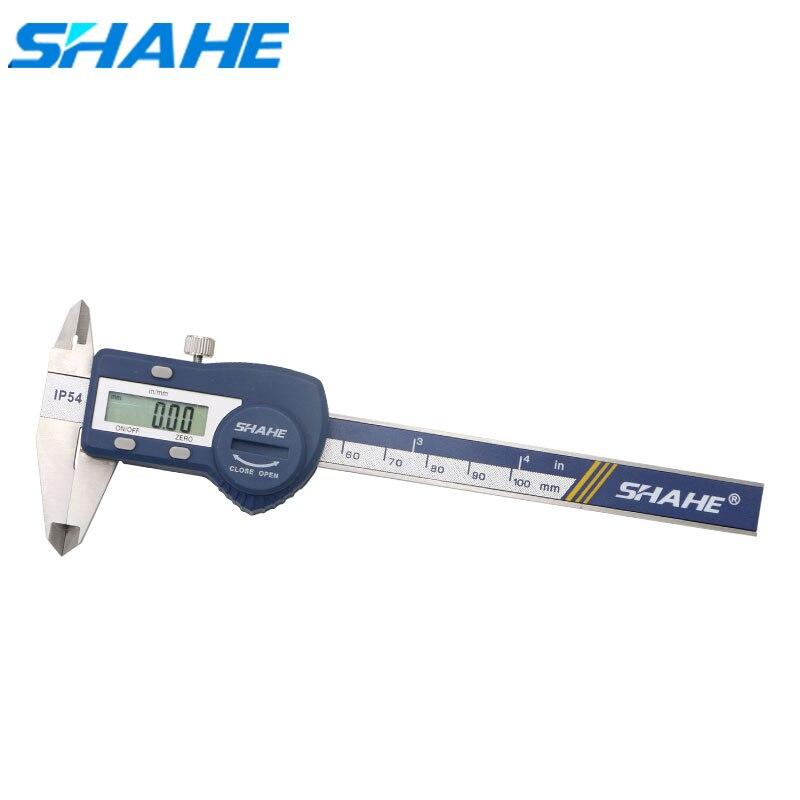SHAHE Stainless Steel Digital Caliper 4 inch100mm Vernier Calipers Micrometer IP54 Waterproof paquimetro digital Measuring Tools