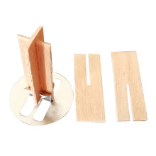 20 Groups Natural With Metal Base Eco-friendly Practical Safe Candle Wick Wooden Decor Cross Core Crafts DIY Making For Soy Wax(China)