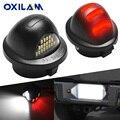 OXILAM бело-красный 18SMD светодиодный номерной знак для Ford F150 фонарь детской яркости 150 250 350 450 автомобильная лампа 12 В