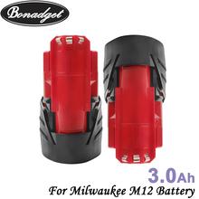 Bonadget dla Milwaukee M12 12v 3000mah elektronarzędzia akumulator litowo-jonowy wymiana elektronarzędzia bateria do M12 obudowa baterii tanie tanio Li-ion Other CN (pochodzenie) Baterie Tylko Pryzmatyczny For Milwaukee M12 3000mah 3000mah m12 battery case Replacement li-ion Battery