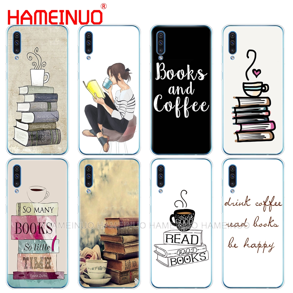 silicon phone cover <font><b>case</b></font> for <font><b>Samsung</b></font> Galaxy S10 E PLUS <font><b>A10</b></font> A20 A30 A40 A50 A70 A10E A20E M20 cover Books And Coffee image