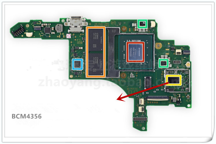Original Pulled NIC Bluetooth Chip BroadcomBCM4356 For Switch For NS Console BCM4356 Chip