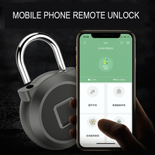 Gold silver Keyless USB Rechargeable Door Lock Fingerprint Smart Padlock Quick Unlock Bluetooth fingerprint function optional