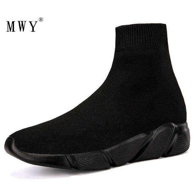MWY Calcetines elásticos informales para mujer, zapatos deportivos gruesos, calzado de exterior, mocasines planos para mujer