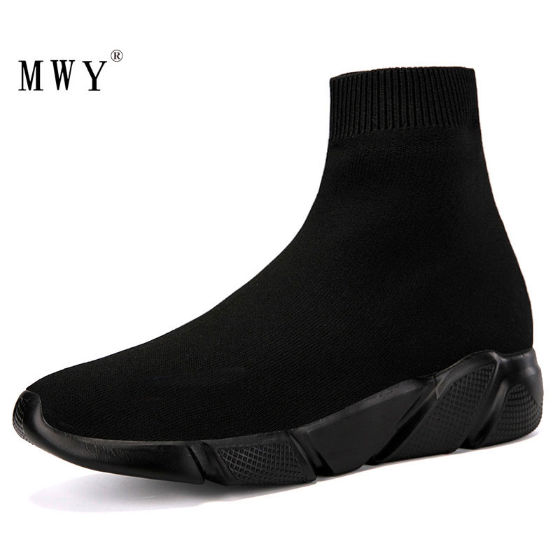 MWY Elastic Casual Socks Shoes Version Of The Thick Sneakers Shoes Outdoor Footwear Woman Flats Female Loafers Chaussure Femme