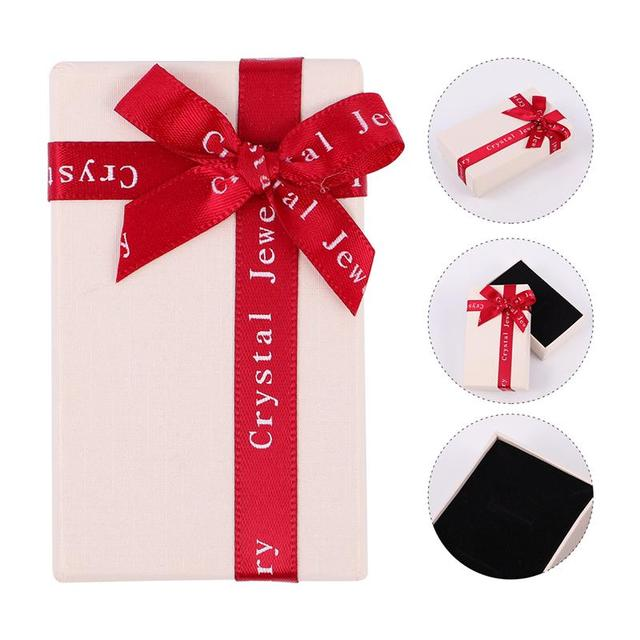 10 Uds. Cajas pequeñas de regalo de joyería Bowknot caja de regalo de papel para fiesta de cumpleaños proveedor
