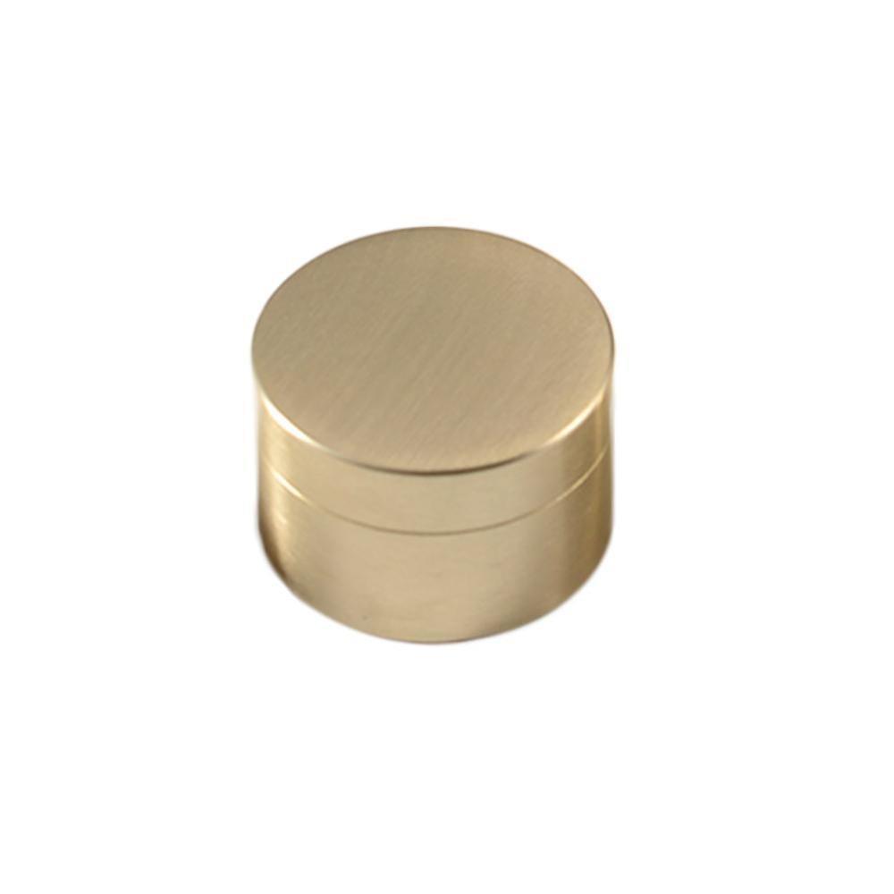 Round brass storage box jewelry box paper weight metal jewelry sealed dustproof and moistureproof brass box packaging box