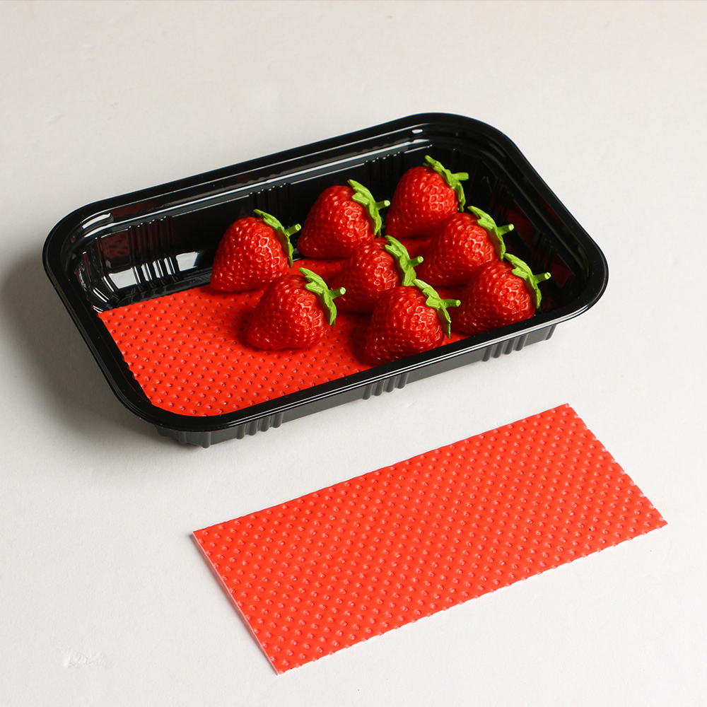 Misource 100pcs 160x70mm Moisture Absorbing Fruit Vegetable Absorbent Pad For Food Packaging Trays