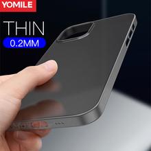 0 2mm Ultra cienki kwadratowy futerał na telefon dla iPhone 11 12 Pro Max XS XR X 6 S 6 S 7 8 Plus SE 2020 matowy Slim twardy PC przezroczysta okładka tanie tanio YOMILE CN (pochodzenie) 0 2mm Ultra Thin Matte Hard PC Phone Case Apple iphone ów IPhone 7 IPHONE 8 PLUS IPHONE X IPHONE XR