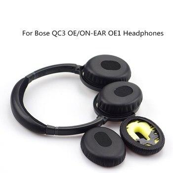 Almohadillas de auriculares para Bose QC3 OE/ON-EAR OE1, almohadillas de Audio de repuesto, accesorios para la cabeza, almohadillas para los oídos, copas