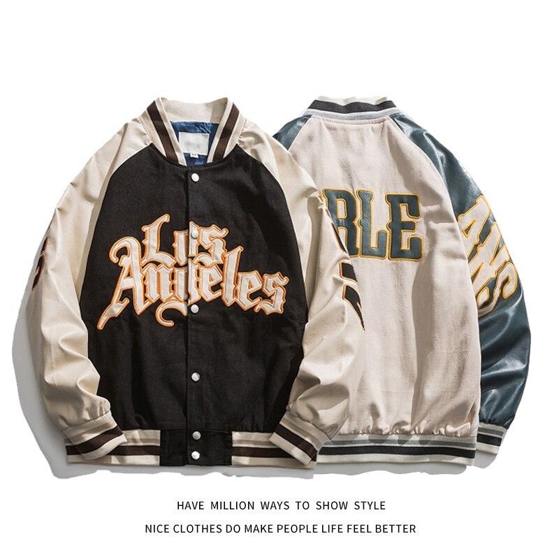 Embroidery Bomber Jackets Women Coat Men's Couple Baseball Jacket 2021 Autumn Unisex Boyfriend Style Varsity Hiphop Streetwear