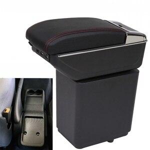 Для Citroen Berlingo подлокотник коробка Универсальная автомобильная центральная консоль caja Модификация аксессуары двойной поднятый с USB