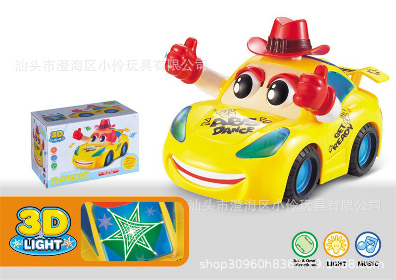 Children'S Educational Flash Toy Car 3D Light And Music Electric Dancing Dump Truck Stunt Car Hot Selling