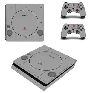 Image 5 - White Days of Play Full Cover Faceplates PS4 Slim Skin Sticker Decal Vinyl for Playstation 4 Console & Controller PS4 Slim Skin