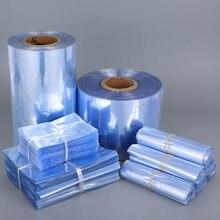 Прозрачный пластиковый пакет из ПВХ термоусадочная пленка плоский