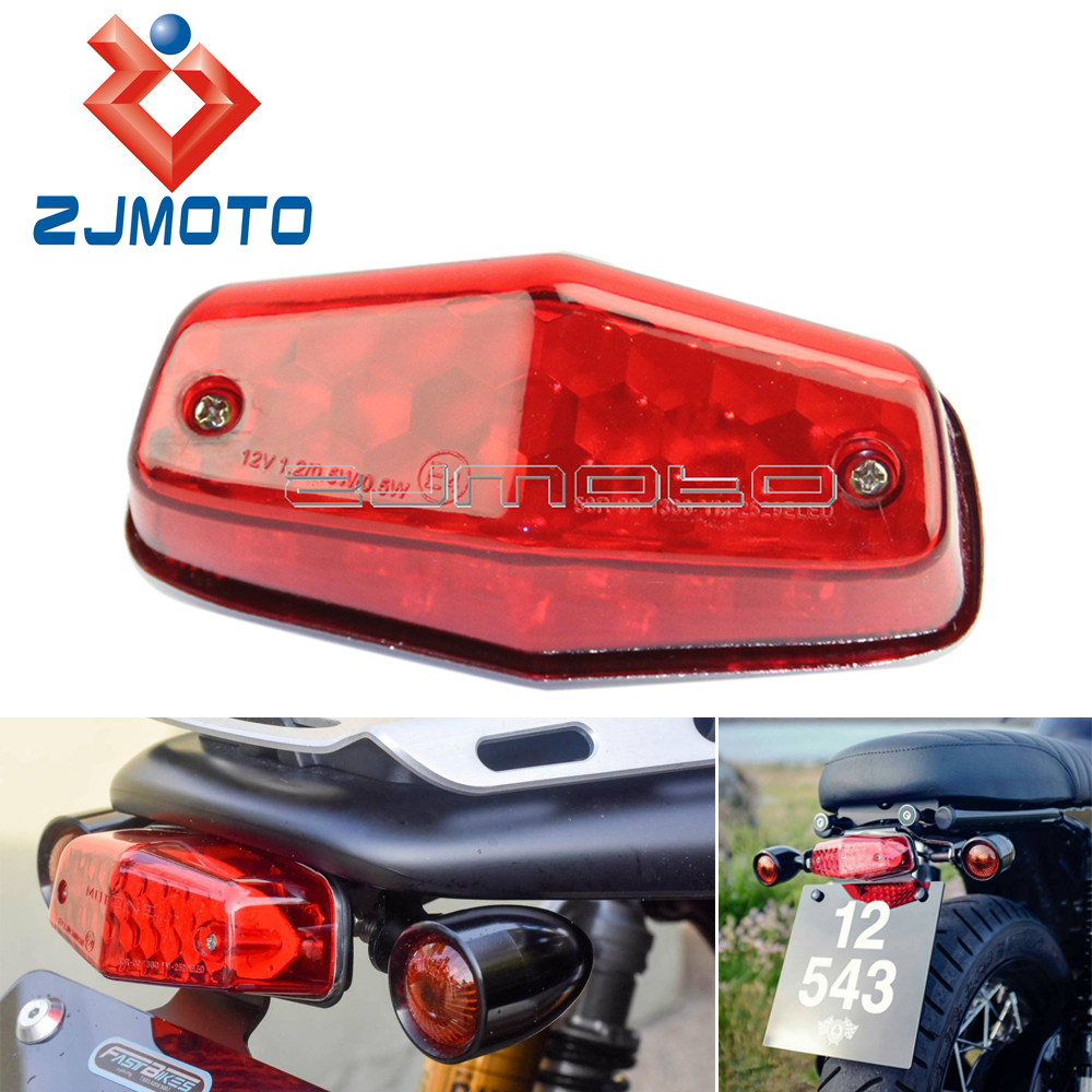 Motorcycle Lucas 564 Style Taillight Rear Lamp Stop Brake LED Tail Light For Triumph BSA Bonneville Cafe Racer Scrambler