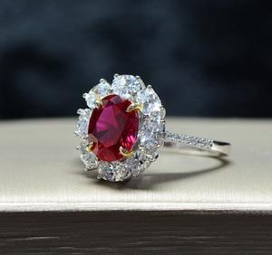 Image 5 - · ウォン雨ヴィンテージ 100% 925 スターリングシルバー作成モアッサナイト用原石の婚約指輪ファインジュエリーギフト卸売