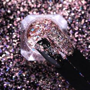Image 2 - Lemooc 1 ボックスホロディスプレイ爪 flakies ネイルスパンコールは金粉 paillette の diy のネイルアートの装飾