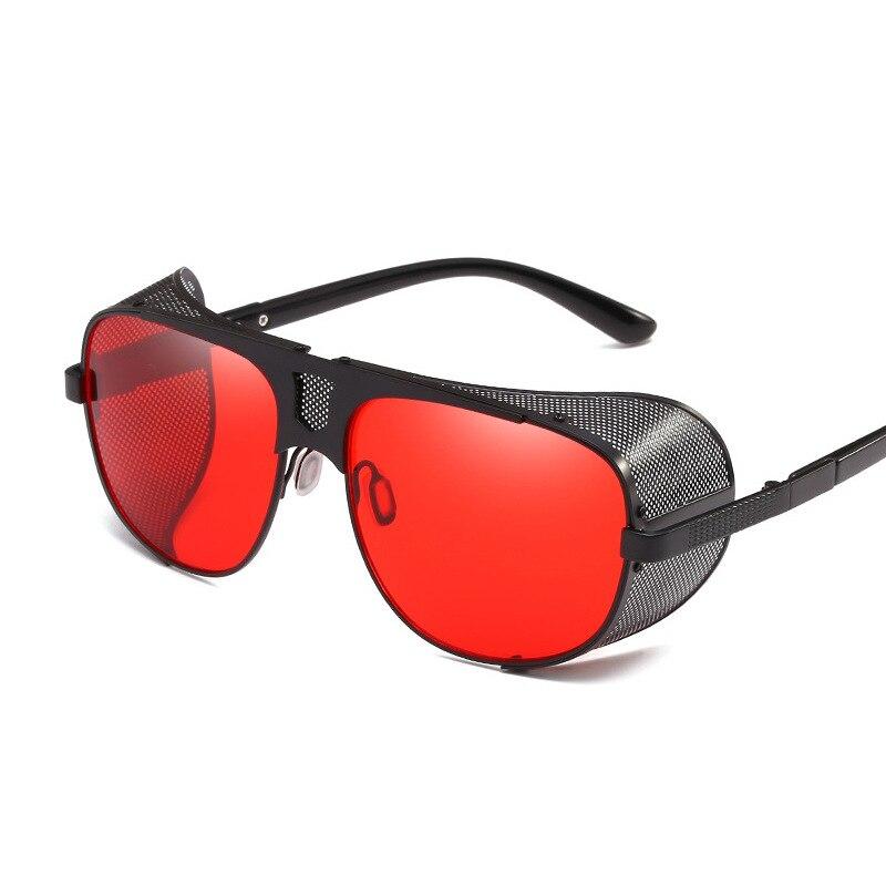 Солнцезащитные очки в стиле стимпанк для мужчин и женщин, винтажные Квадратные Солнцезащитные очки в стиле панк, солнцезащитные очки в