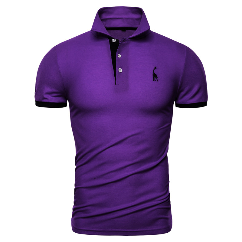 Dropshipping 13 Colors Brand Quality Cotton Polos Men Embroidery Polo Giraffe Shirt Men Casual Patchwork Male Tops Clothing Men 9