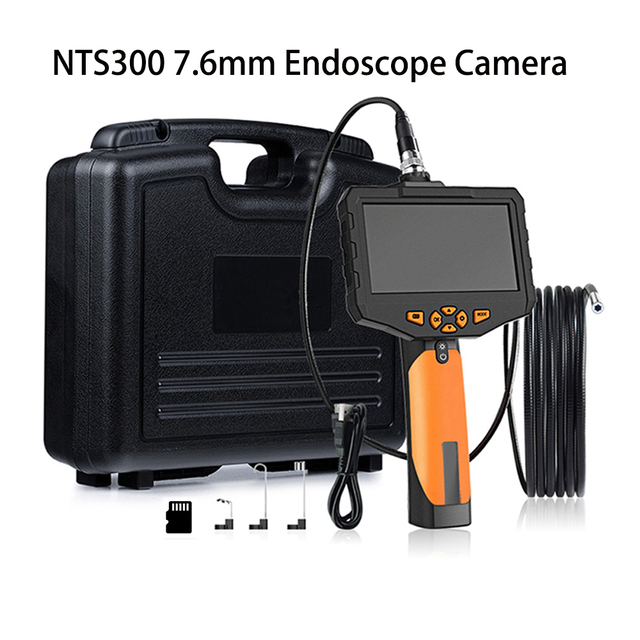 "4.3/"" HD Snake Camera Drain Pipe Inspection Endoscope  Probe Waterproof Camera"