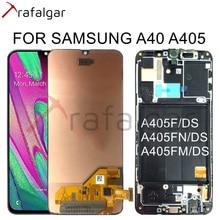 Dành Cho Samsung Galaxy SAMSUNG Galaxy A40 Màn Hình Hiển Thị LCD A405 A405F A405FN/DS Bộ Số Hóa Cảm Ứng Dành Cho Samsung A40 Màn Hình Hiển Thị LCD có Khung