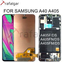 Para samsung galaxy a40 display lcd a405 a405f a405fn/ds assembléia digitador da tela de toque para samsung a40 display lcd com quadro