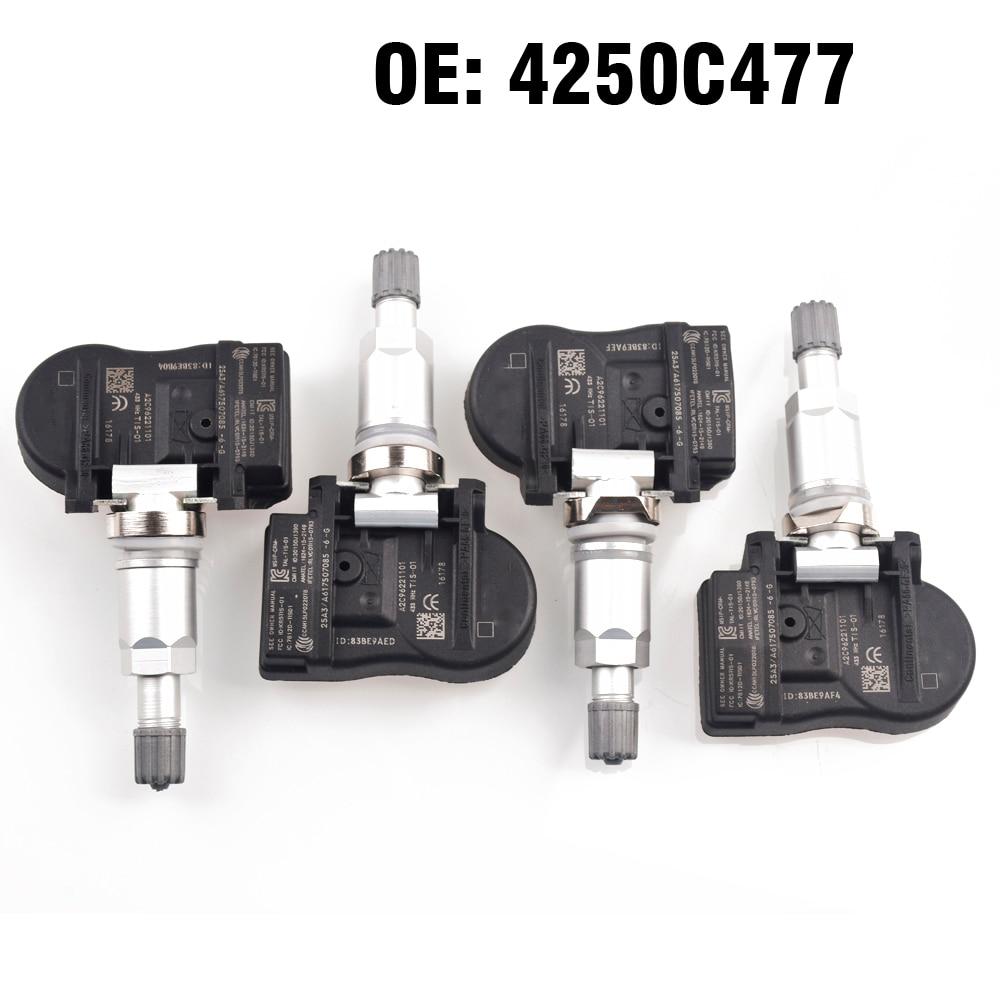 4 PCS Auto Reifendruck Monitor Sensor TPMS 4250C477 für Mitsubishi ASX Lancer Outlander Lancer ASX i-miev