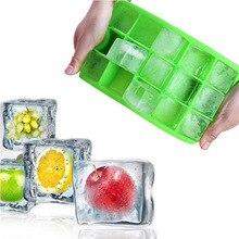 15 решеток квадратной формы ледяной кубик формы лоток силиконовые фрукты эскимо мороженое производитель для вина Кухня Бар