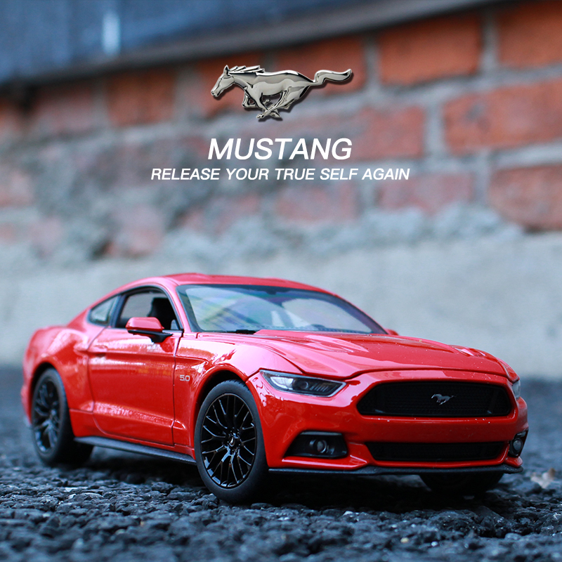 Welly 1:24 2015 Ford Mustang Car Model Simulation Car Decoration Collection Gift Toy Die Casting Model Boy Toy