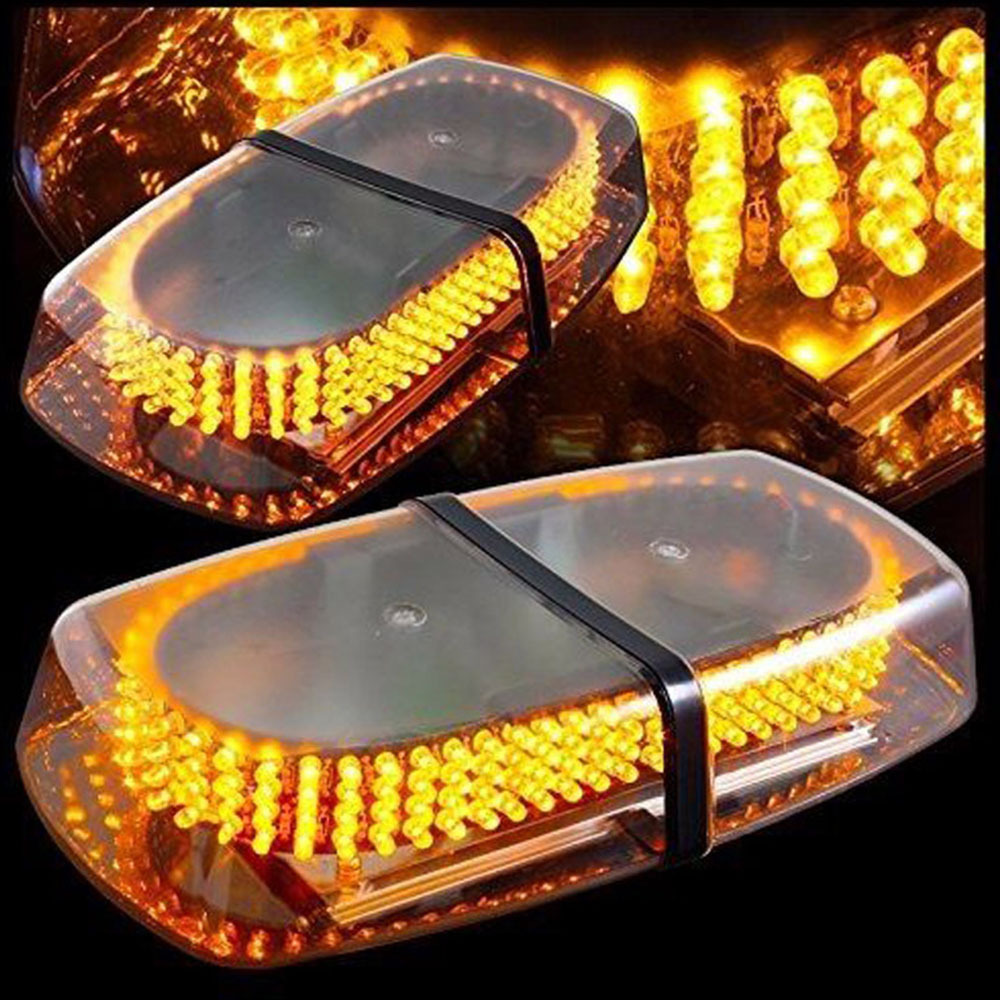 240 LED DC12V 24V High Power Amber Yellow 240 LED Car Truck Warning Flash Beacon Strobe Emergency Light Police Lights Magnetic B