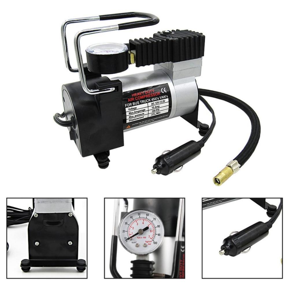 100PSI Super Flow DC 12V Metal Air Compressor Tyre Inflator Car Air Pump Vehicle Pump Electric Pressure Gauge