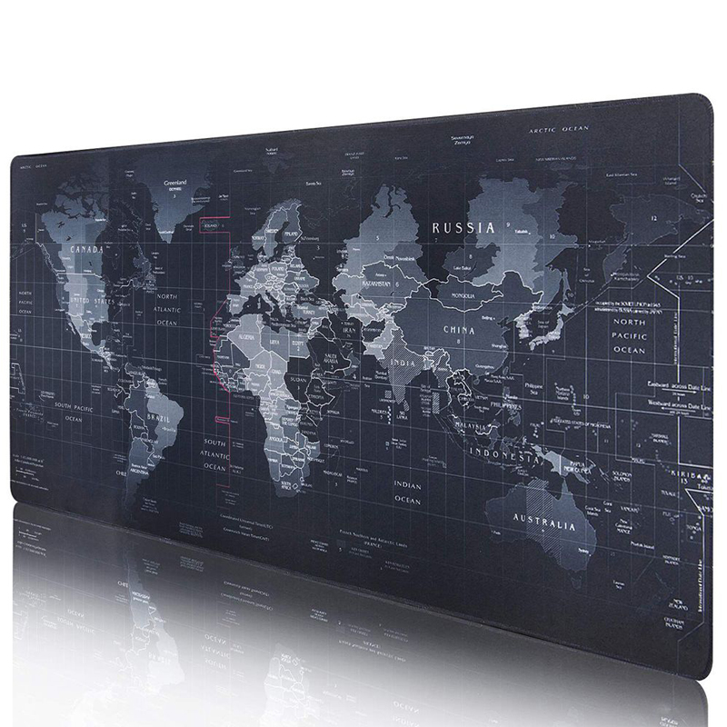 Silicone Large Mousepad Gaming Accessories Keyboard Pad Cushion XL Mouse Mat Gel World Map Print Keyboard Gel Logitech Gamer Mat