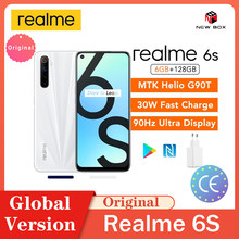 Realme 6s 6GB 128GB 90Hz Display 48MP Vier kameras FHD NFC Handy Android 10 4300mAh 30W Schnelle Lade Сотовый телефон