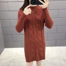 6 Color New Half High Collar Stretchy Sweater Female Winter Loose Korean Style Women Crocheted Twist Long Warm