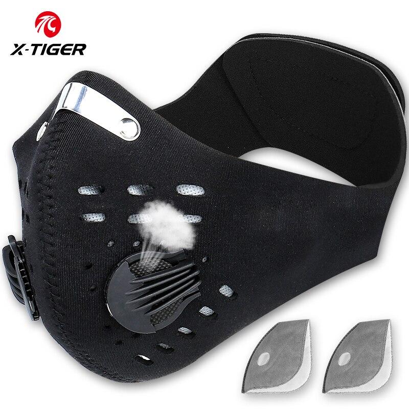 X Tiger Pro велосипедная маска для лица с фильтрами дышащая велосипедная маска с активированным углем защита от загрязнения Спортивная тренировочная маска для велосипеда|Маска для велоспорта|   | АлиЭкспресс